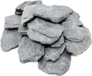 Capcouriers Small Slate Stones (Slate Stones 2.5 LBS) - Natural Slate Rocks - Range from 1 to 2 inches (Stones are Dusty)