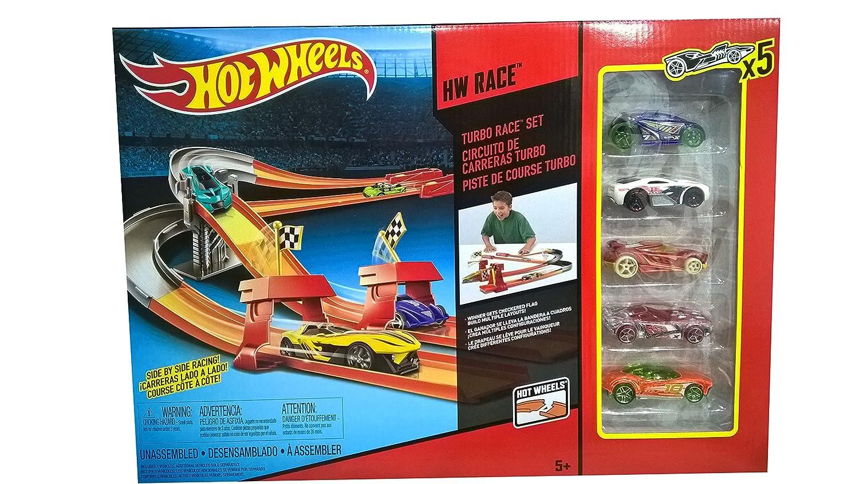 Circuito Hot Wheels : Hot wheels turbo race set amazon toys games