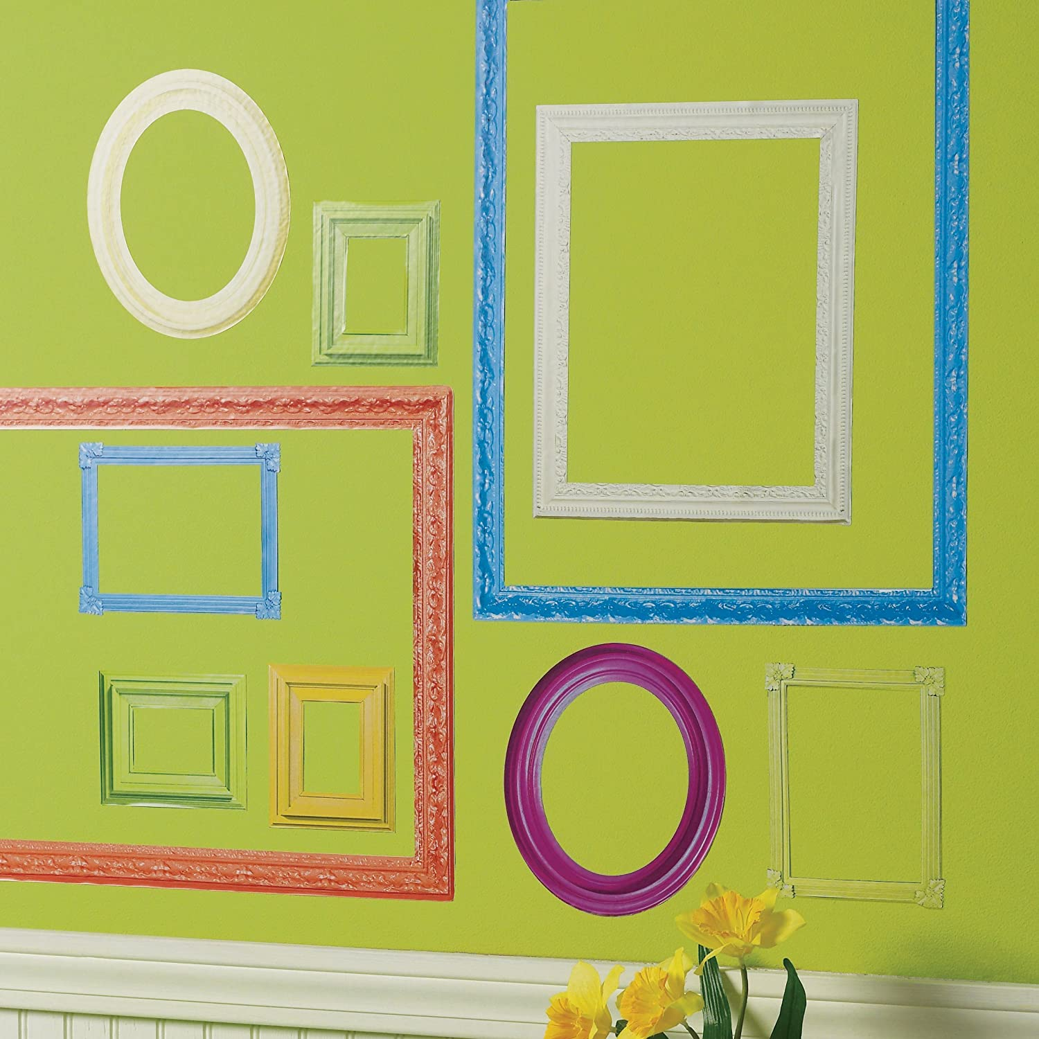 Wallies Peel & Stick Vinyl Wall Decals, Colorful Frames Wall ...