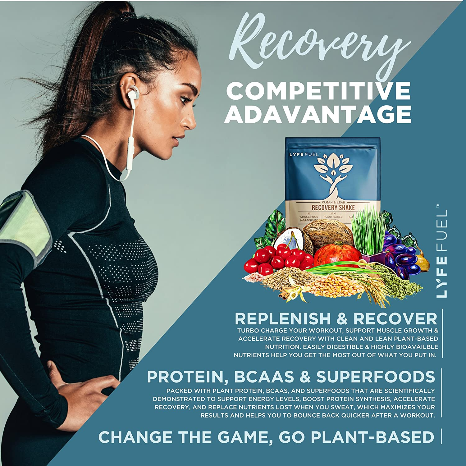 Amazon.com : Plant Based Recovery Shake - Clean & Lean Post Workout ...