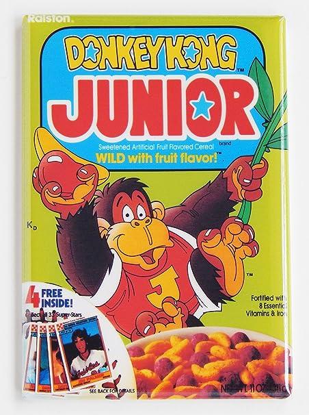 Donkey Kong Jr. Caja de cereales imán para nevera (2 x 7,62 cm): Amazon.es: Hogar