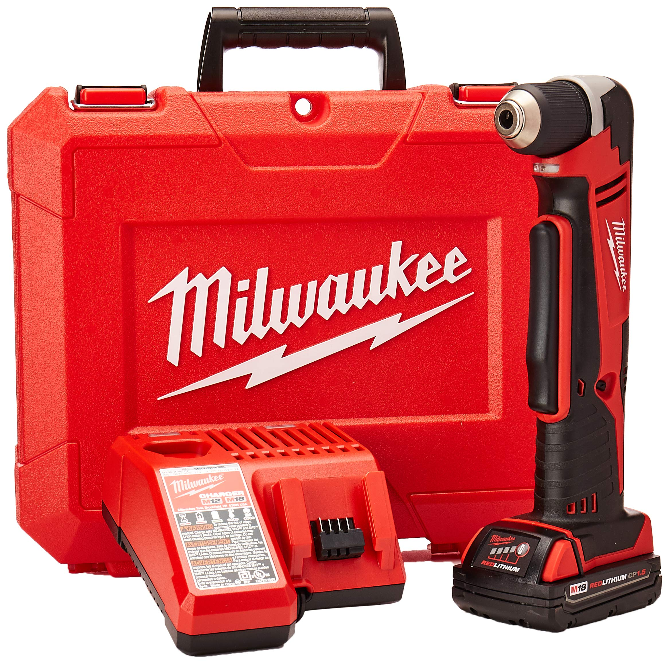 Milwaukee Electric Tool 2615-21CT Right Angle Cordless Drill Kit, 18 V, Li-Ion, 3/8'' Single Sleeve Chuck by Milwaukee