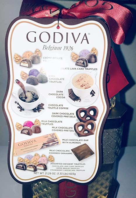 Amazon.com : GODIVA Golden Tower Gift Basket (5 Individual Gift Box of Assorted Chocolates) Net Weight 21.29 OZ : Grocery & Gourmet Food