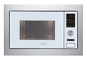 Cata MC 28 D WH - Microondas con grill, acero inoxidable, color blanco