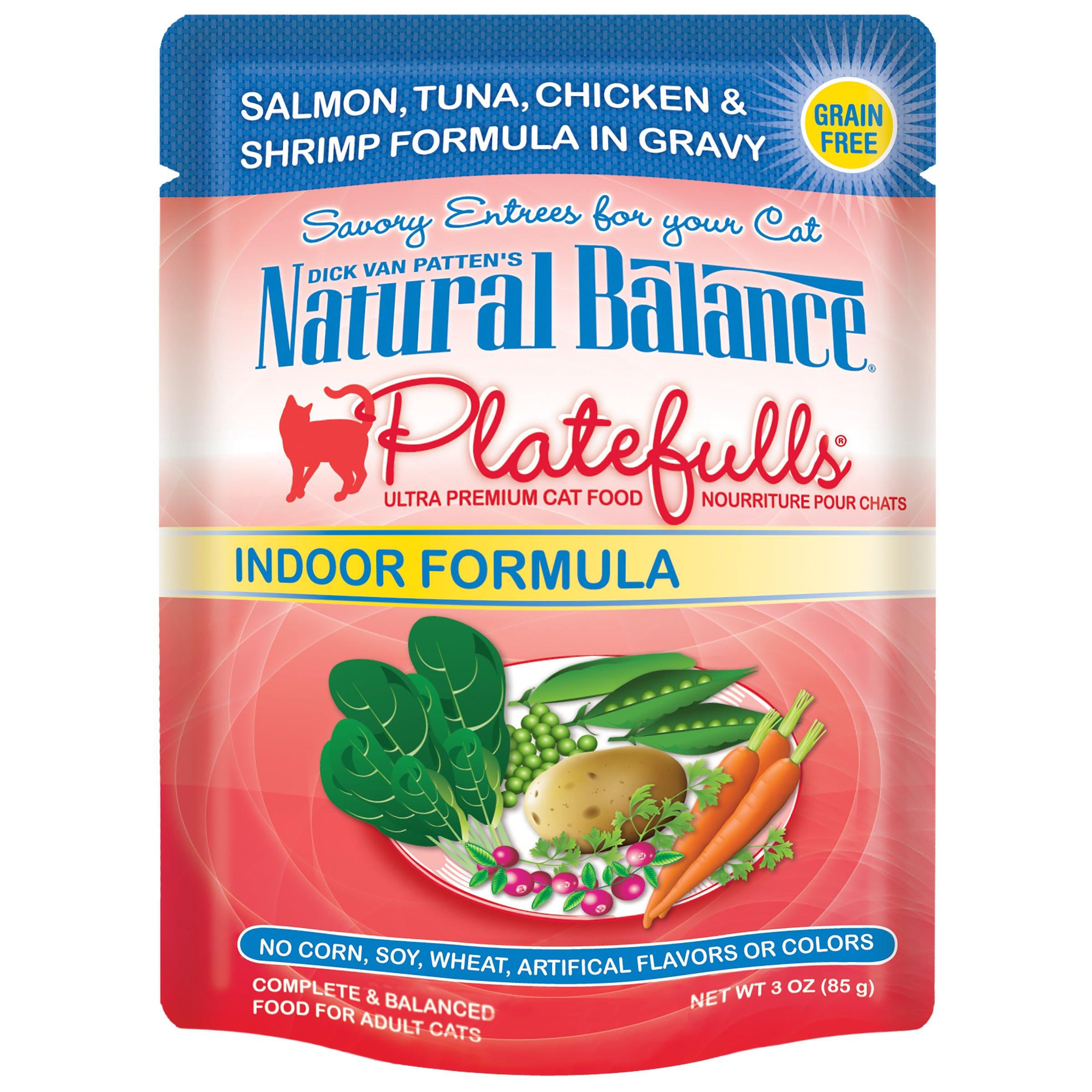 Love cats Natural Balance Platefulls Grain Free Indoor Cat Food