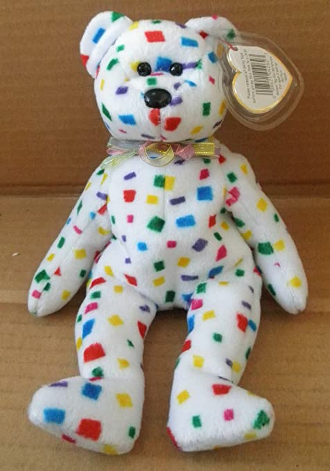 Amazon.com  TY Beanie Babies TY Y2K the Bear Stuffed Animal Plush Toy - 8  inches tall  Toys   Games 97089ad6f0db