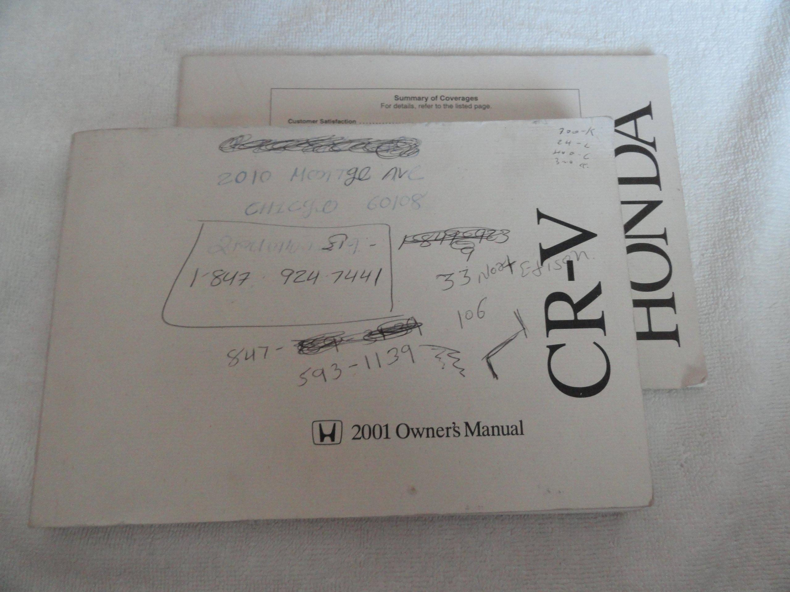 2001 honda crv cr v owners manual honda amazon com books rh amazon com 2001 honda crv owners manual pdf 2001 honda cr v owners manual