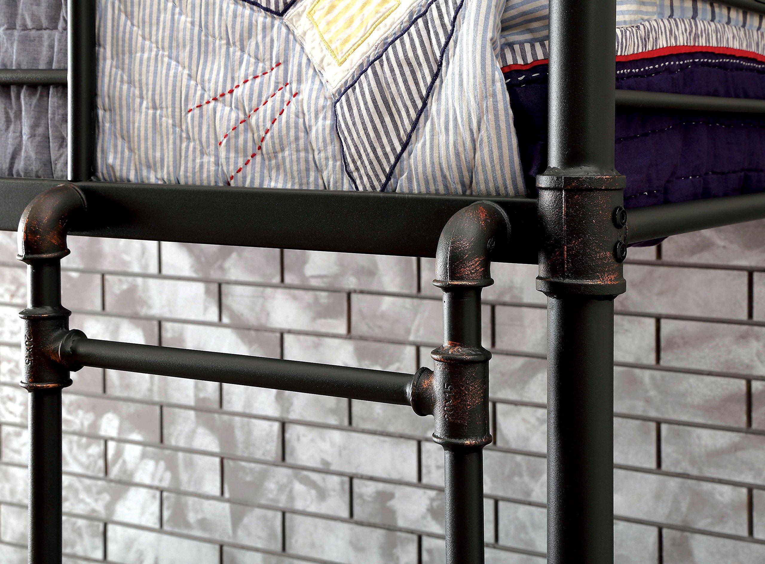 HOMES: Inside + Out IDF-BK913FQ Xondro Bunk Bed Childrens Frames, Full / Queen