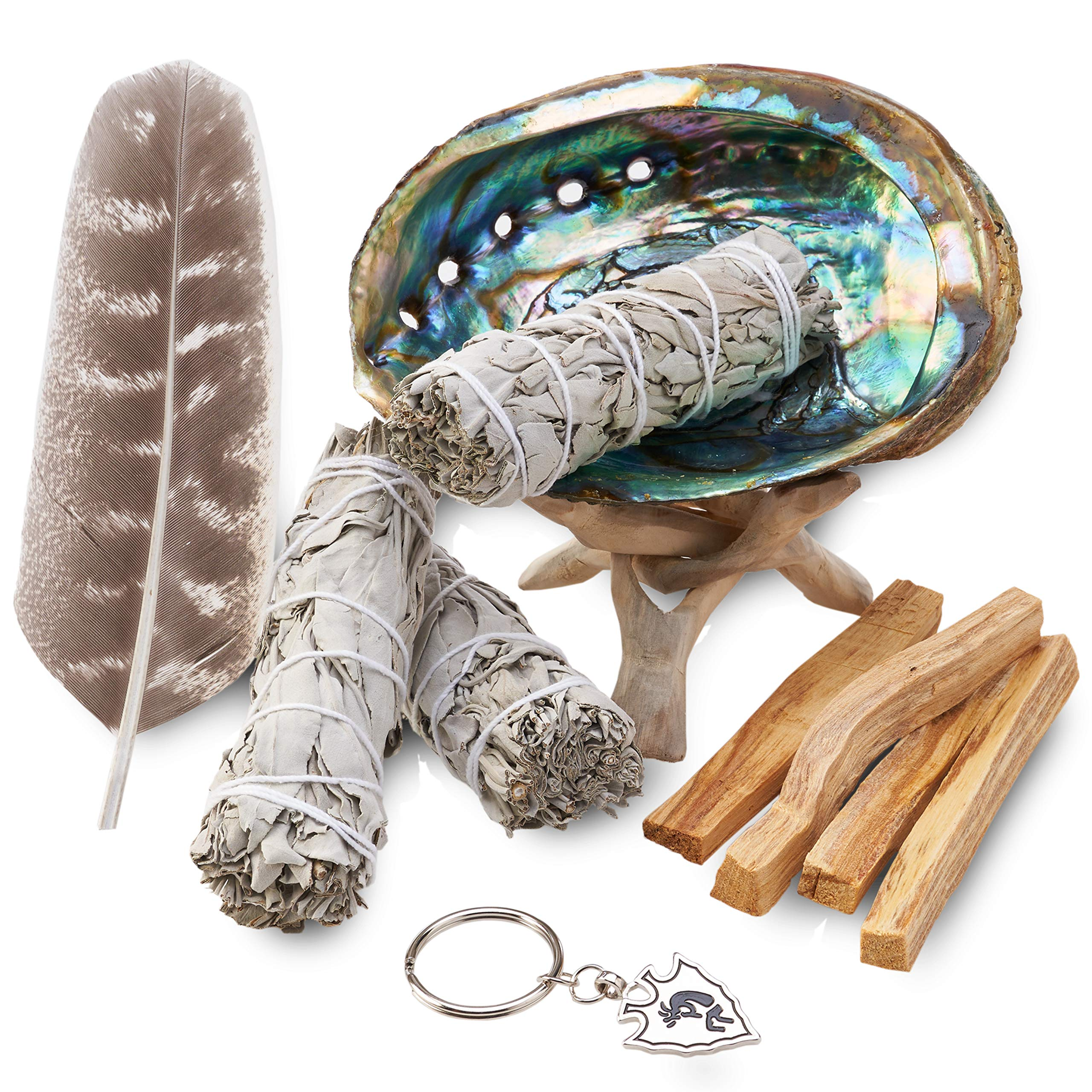 JL Local Smudge Kit - Sage, Palo Santo, Abalone Shell, Feather + More! Yoga, Meditating, Purify, Cleanse by JL Local (Image #1)