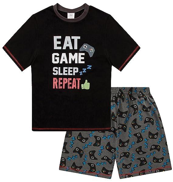The Pyjama Factory - Pijama dos piezas - para niño Negro negro 10-11 Años