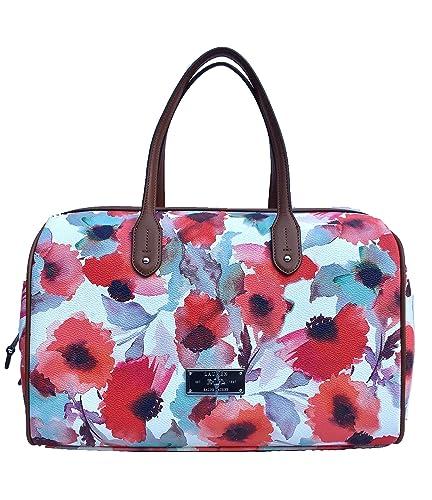 d9ef3c7648 Lauren Ralph Lauren Clements Barrel Floral Satchel Handbag