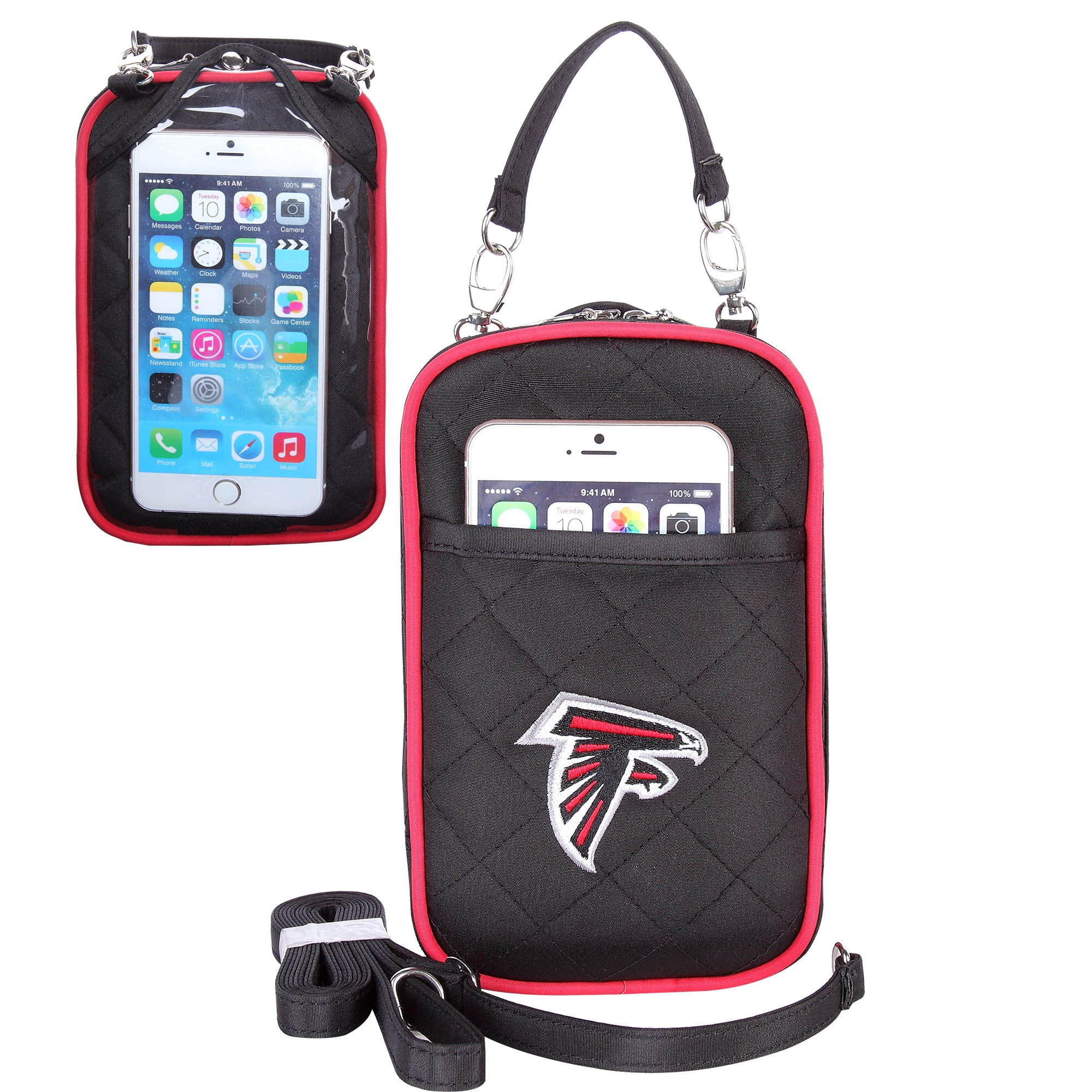 Charm14 NFL Atlanta Falcons Women's Crossbody Bag Quilt-Embroidered Logo-Fits All Phones by Little Earth