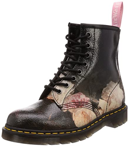 99a536770349 Dr. Martens X New Order Unisex 1460 Power Corruption Cristal Suede Boot  Black Size