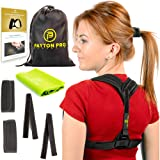 "Posture Corrector for Women and Men | Column Corrector Posture Brace (28"" to 60"" adjustable)Back Posture Corrector and Back Support Brace Postural Correction+eBook 