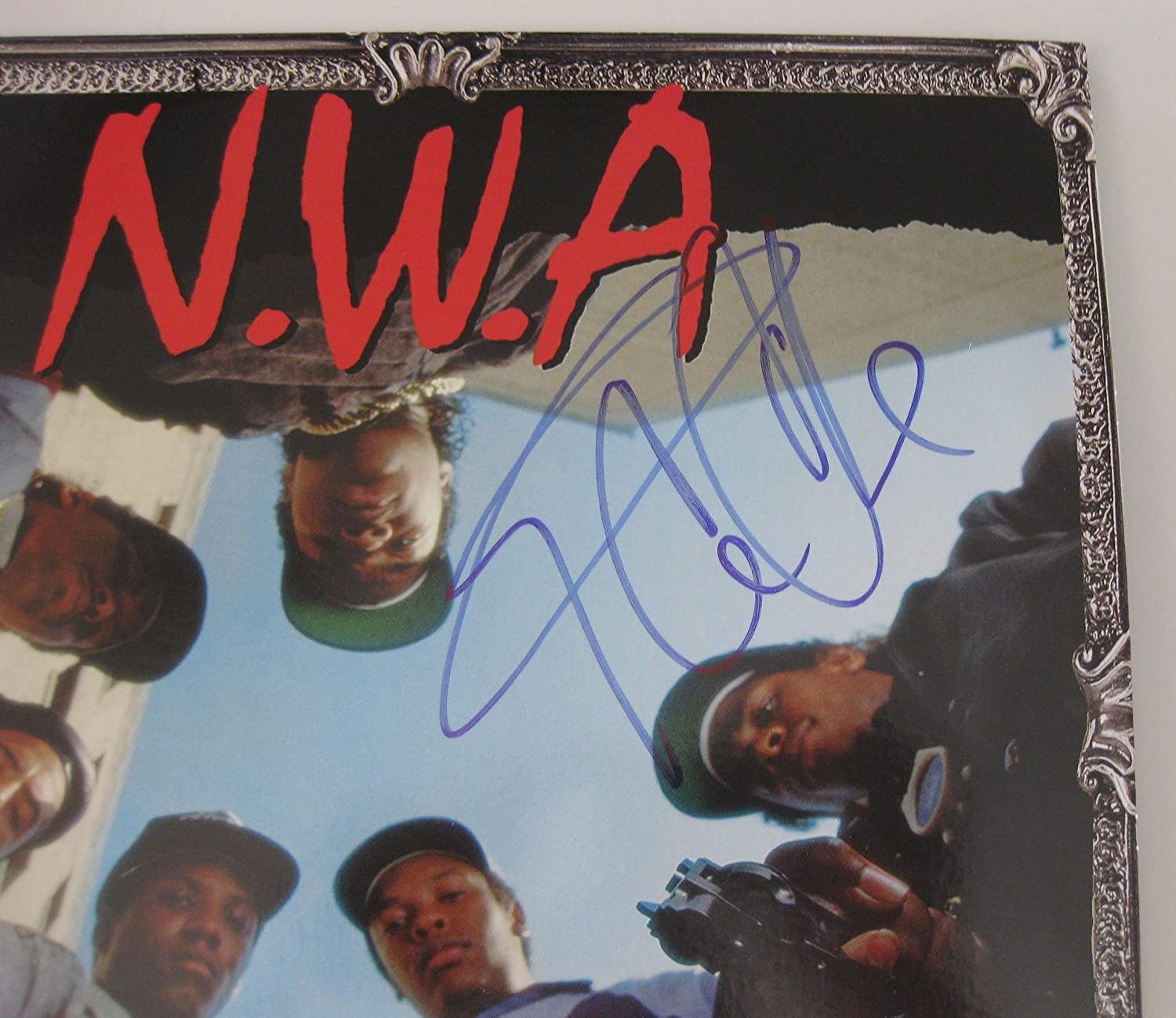 Ice cube signed autographed nwa straight outta compton ice cube signed autographed nwa straight outta compton vinyl album a coa with the proof photo will be includedar at amazons sports collectibles 1betcityfo Images