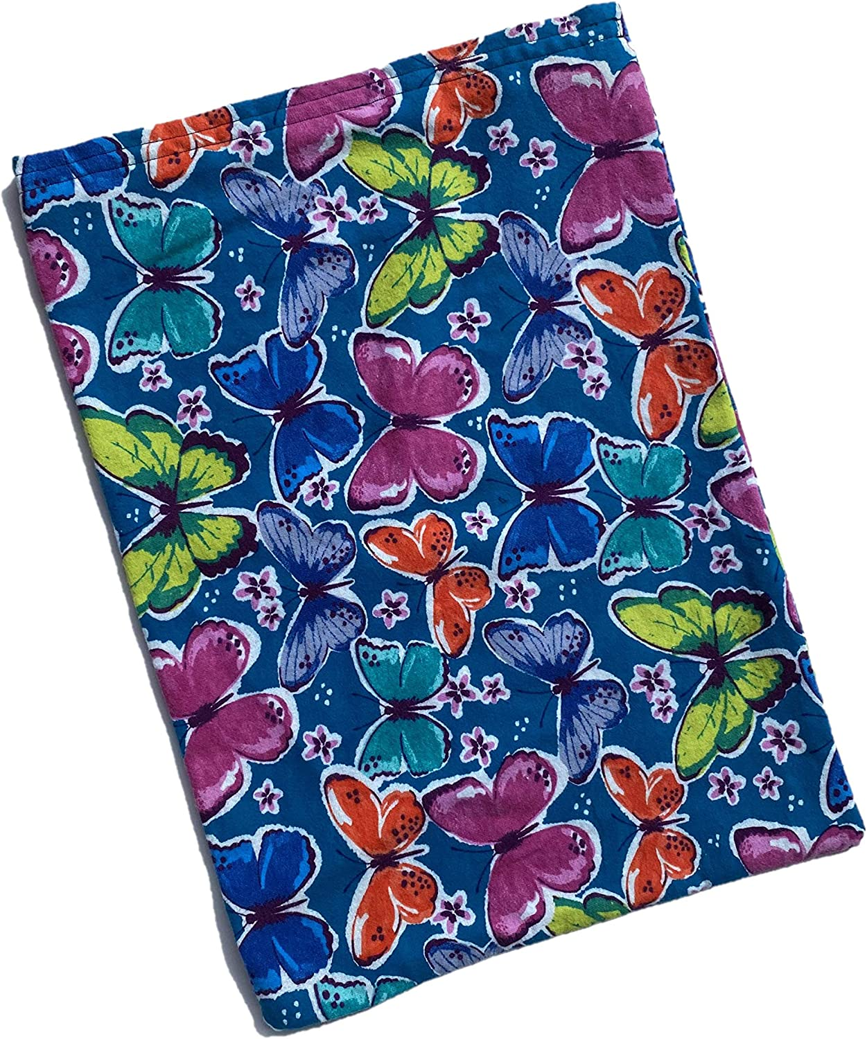 Heating Pad Replacement Cover, Fits 12 X 15 Electric Heating Pads Cotton Flannel (Teal Butterflies)