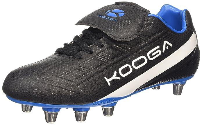 Kooga Blitz, Chaussures de Rugby Homme - Noir (Black/Neon) - 42 EU