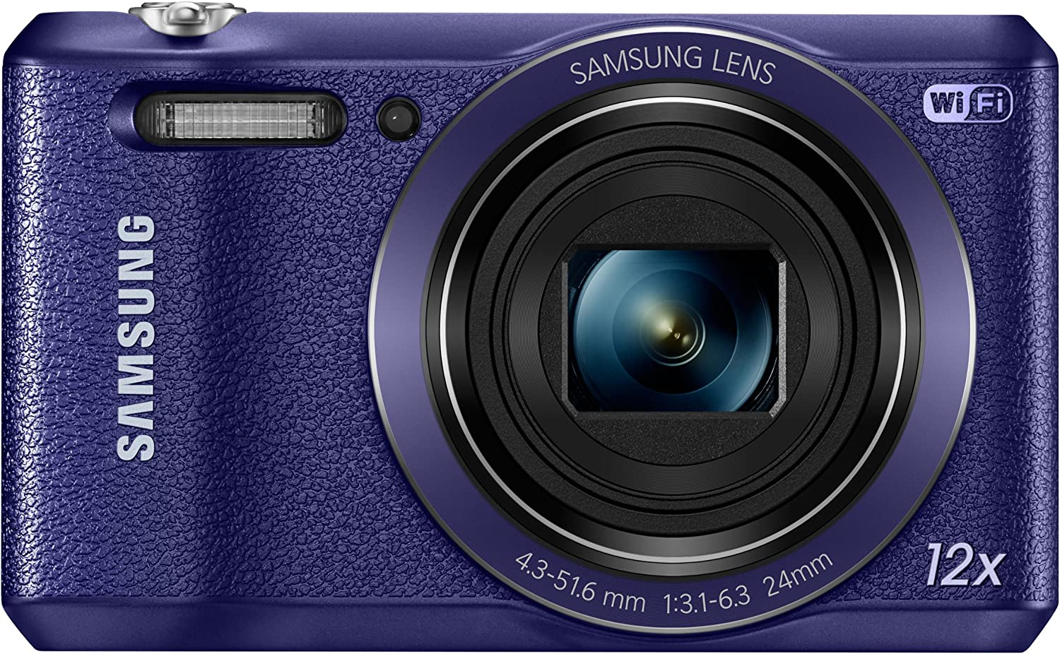 "Samsung WB35F 16.2MP Smart WiFi & NFC Digital Camera with 12x Optical Zoom and 2.7"" LCD (Plum)"