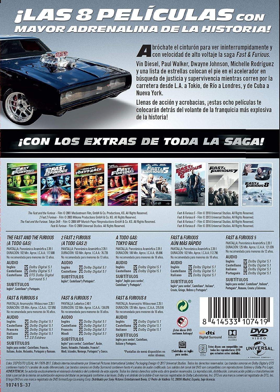 Pack: Fast & Furious (1-8) [DVD]: Amazon.es: Vin Diesel, Jason ...