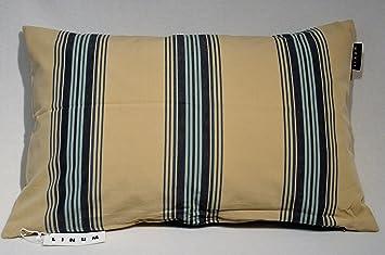 Linum Housse de coussin Wyler 40 x 60 cm beige avec rayures bleues