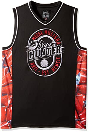 f66e31bd6a8c8b Metal Mulisha Mens Beer Hunter Jersey Tank Sleeveless Tank Top Cami Shirt -  Black -  Amazon.co.uk  Clothing