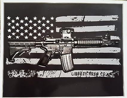 Protected By AR-15 Car Truck SUV Assault Rifle Gun Window Decal Sticker Bumper