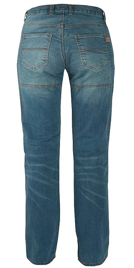 Jeans Donna Pantaloni Lady Moto Protezioni Omologate Rinforzi Kevlar Blu  28  Amazon.it  Auto e Moto 5a54ff1045d