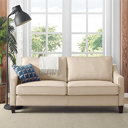 finest selection bb624 ad291 Dorel Living Carlton Sofa, Beige