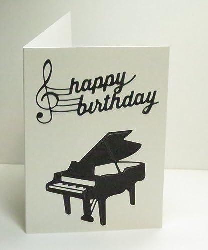 Amazon Handmade Black White Pearlescent Grand Piano Musical