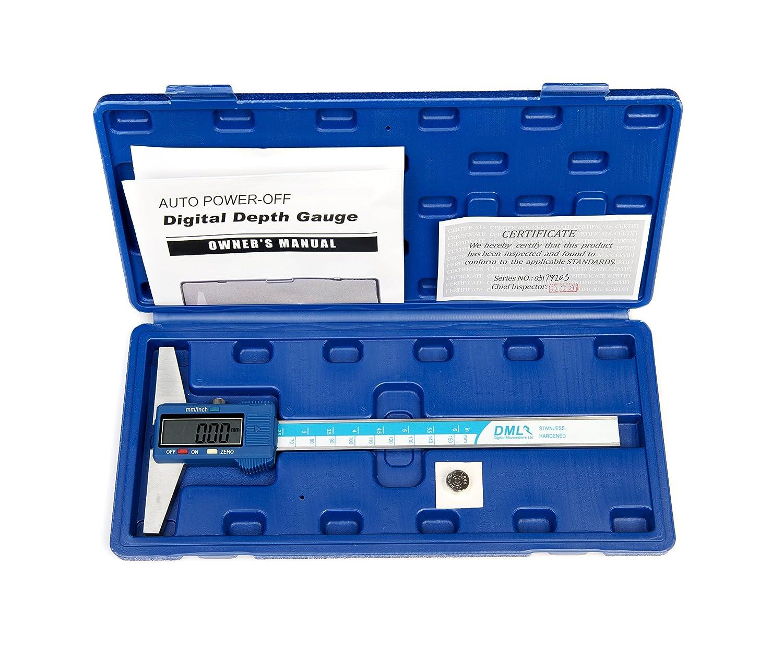 DML 150mm 6 Inch Digital Depth Gauge Stainless Steel 12 Months Warranty Digital Micrometers Ltd DDG150