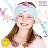 Snuggly Rascals (v2) Kids Headband Headphones - Ultra-Comfortable, Volume Limited and Size Adjustable. (Cotton, Unicorn)