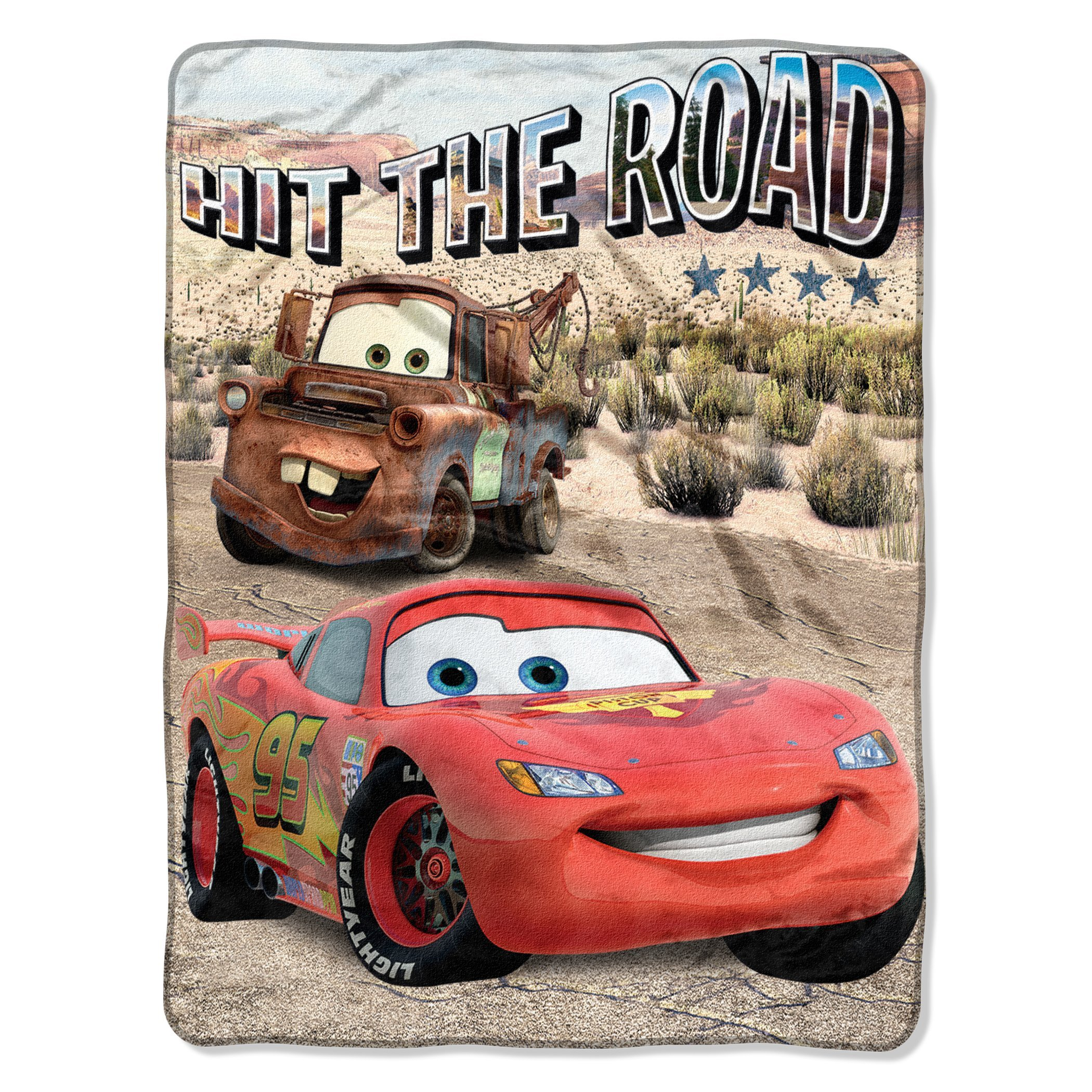 Disney Pixar Cars, Off the Road Micro Raschel Throw Blanket, 46'' x 60''