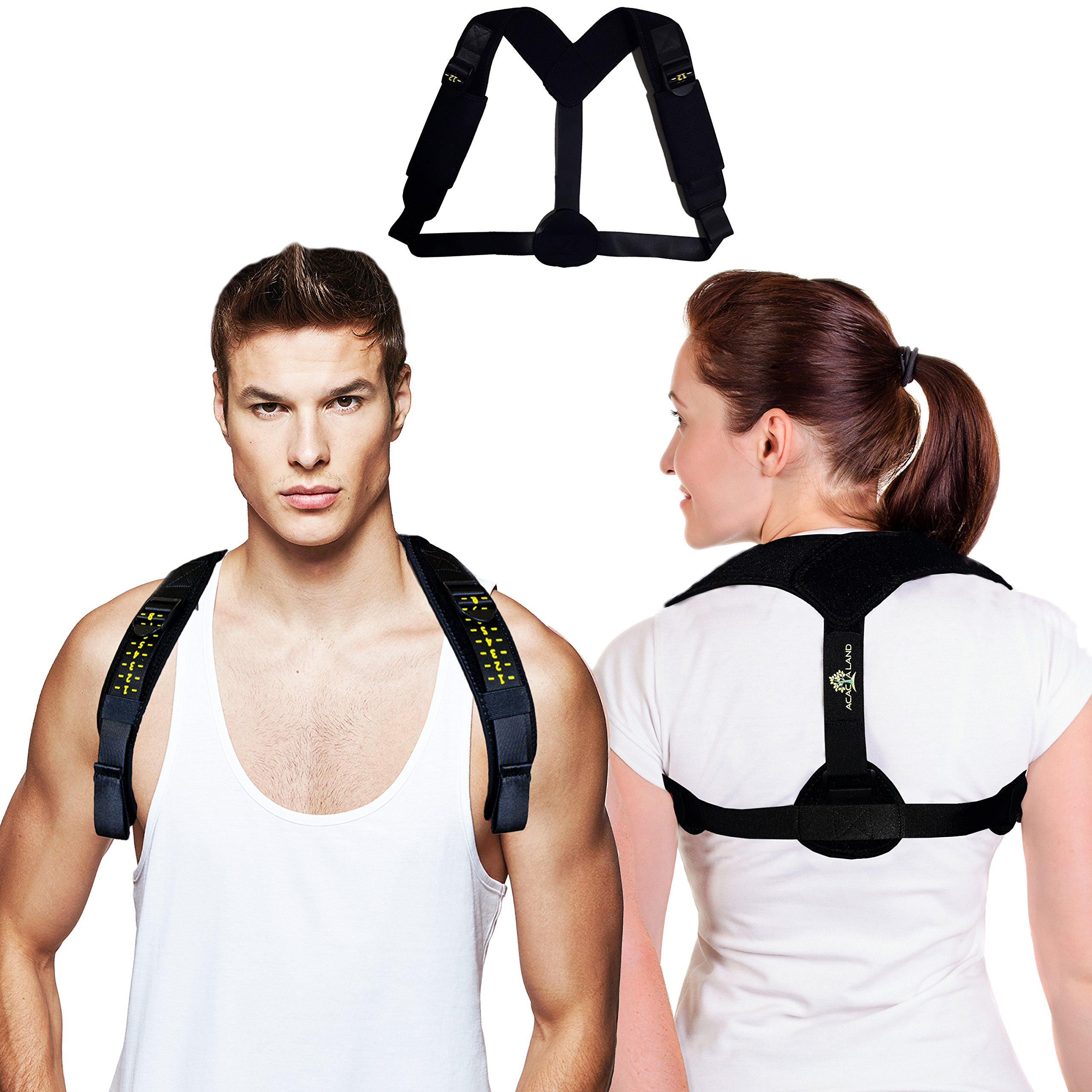 Back Posture Corrector for Women & Men - Effective and Comfortable - Support Brace for Slouching & Hunching & Bad Posture - Figure 8 Adjustable Clavicle Posture Brace for Shoulder & Neck Pain Relief