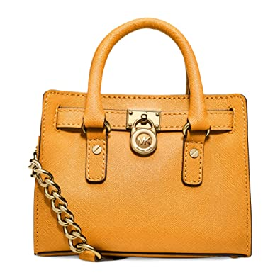 ba44a612014d Amazon.com  MICHAEL Michael Kors Hamilton Mini Messenger Crossbody Bag in  Vintage Yellow  Shoes