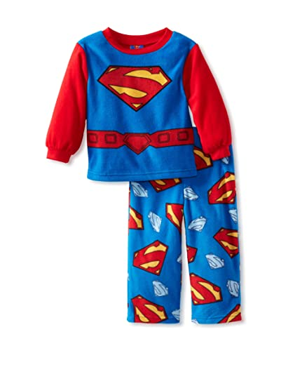 Boys Superman Uniform Pajama Set, Blue, ...