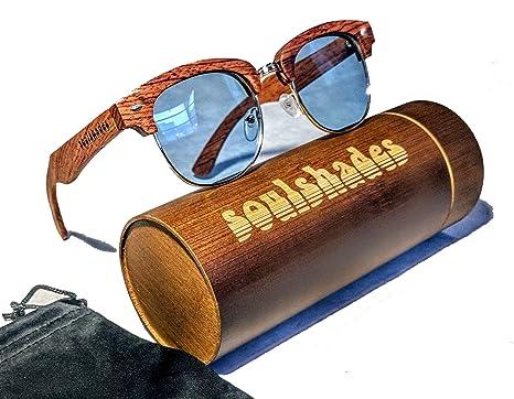 9c93b8438d Amazon.com  Semi-Rimless Wood Sunglasses for Women and Men - Real ...