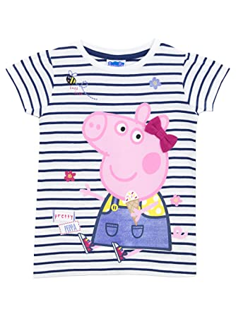 Peppa Pig Girls T Shirt Ages 18 Months To 8 Years