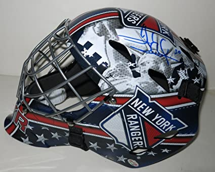 Henrik Lundqvist Autographed New York Rangers Goalie Mask At