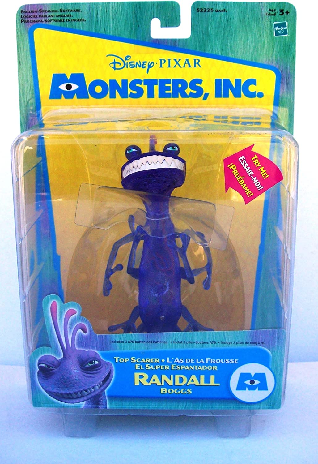 Amazon Com Monsters Inc Top Scarer Randall Boggs Action Figure By Hasbro Toys Games