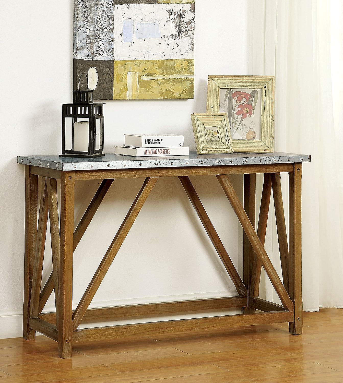 Furniture of America Nalli Sofa Table, One-Size, Natural