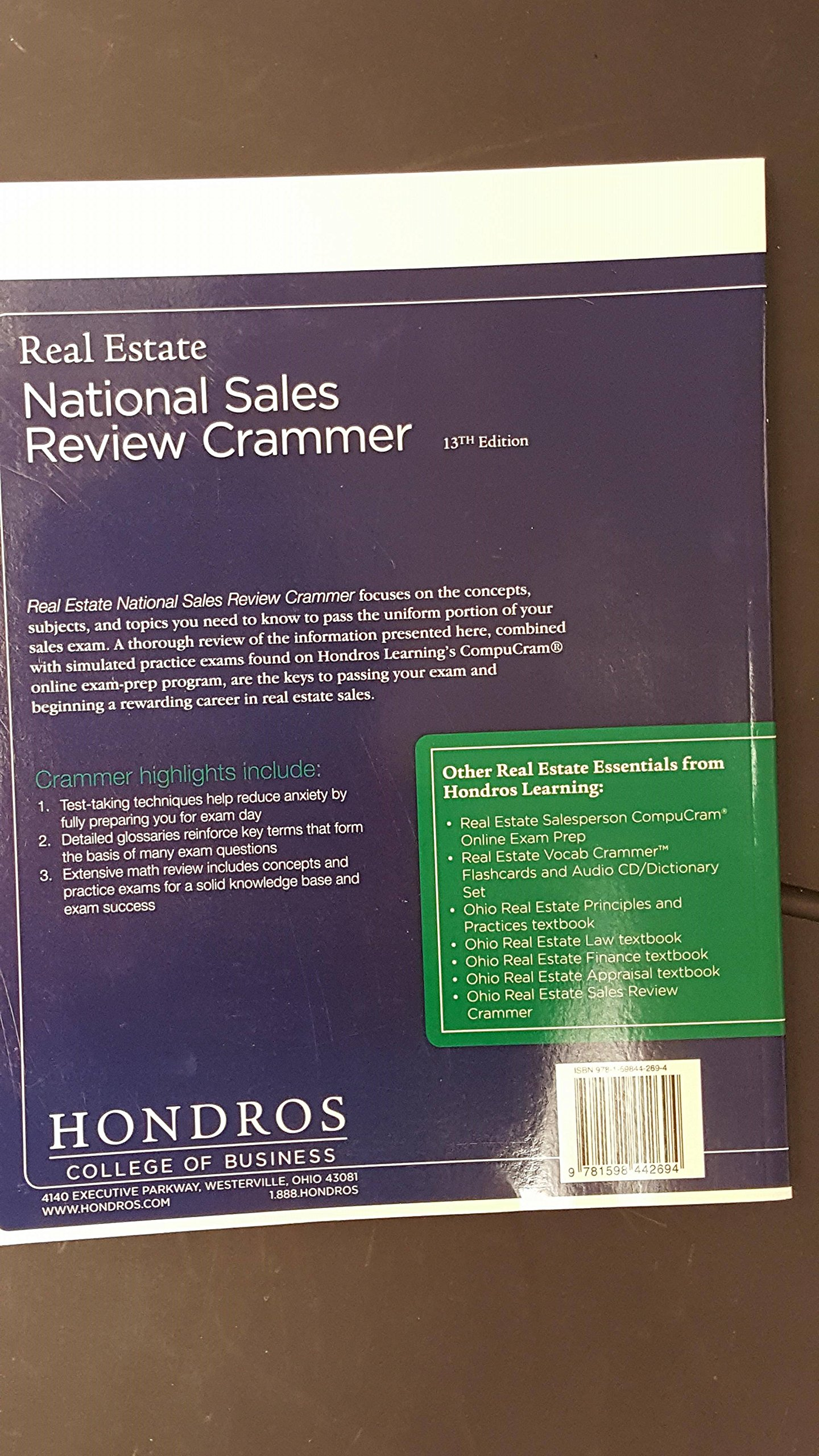 Real Estate National Sales Review Crammer 13th Edition