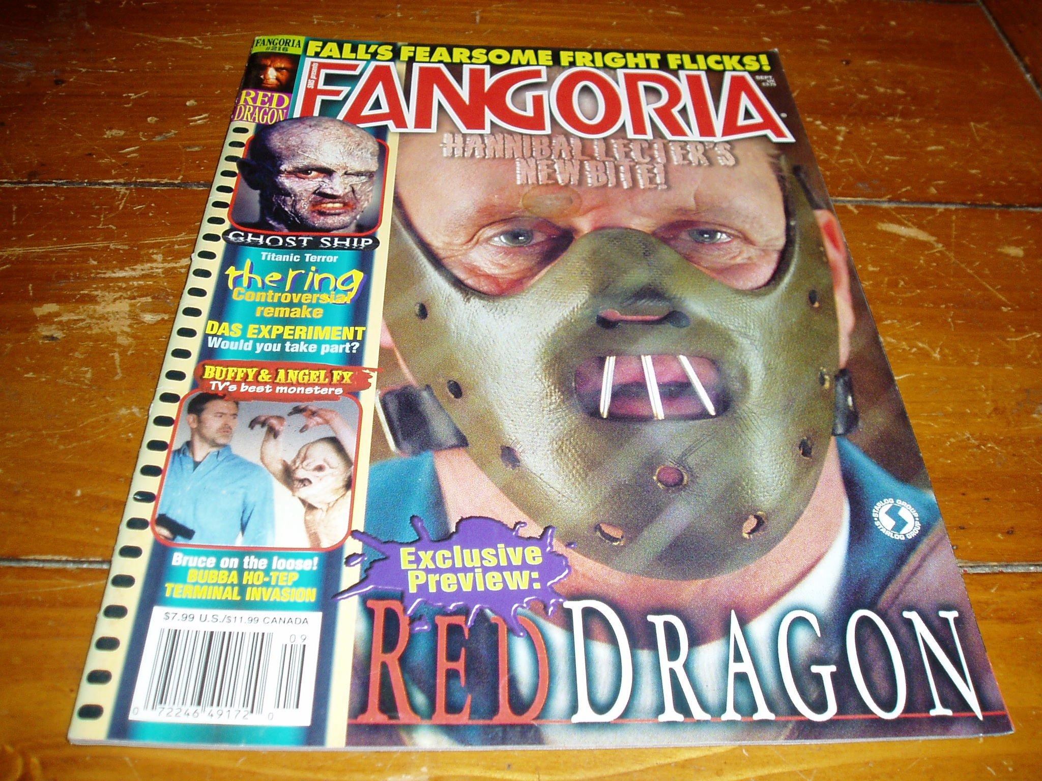 Read Online Fangoria Horror Magazine Issue # 216 September 2002 pdf