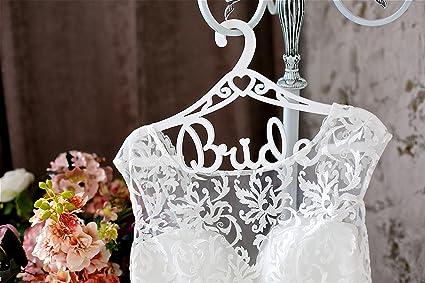 Amazon.com: Bride Hanger - White Wedding Dress Hanger - Best Bridal ...