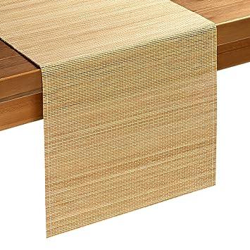Bambus Tischlaufer In Natur 137 Amazon De Kuche Haushalt