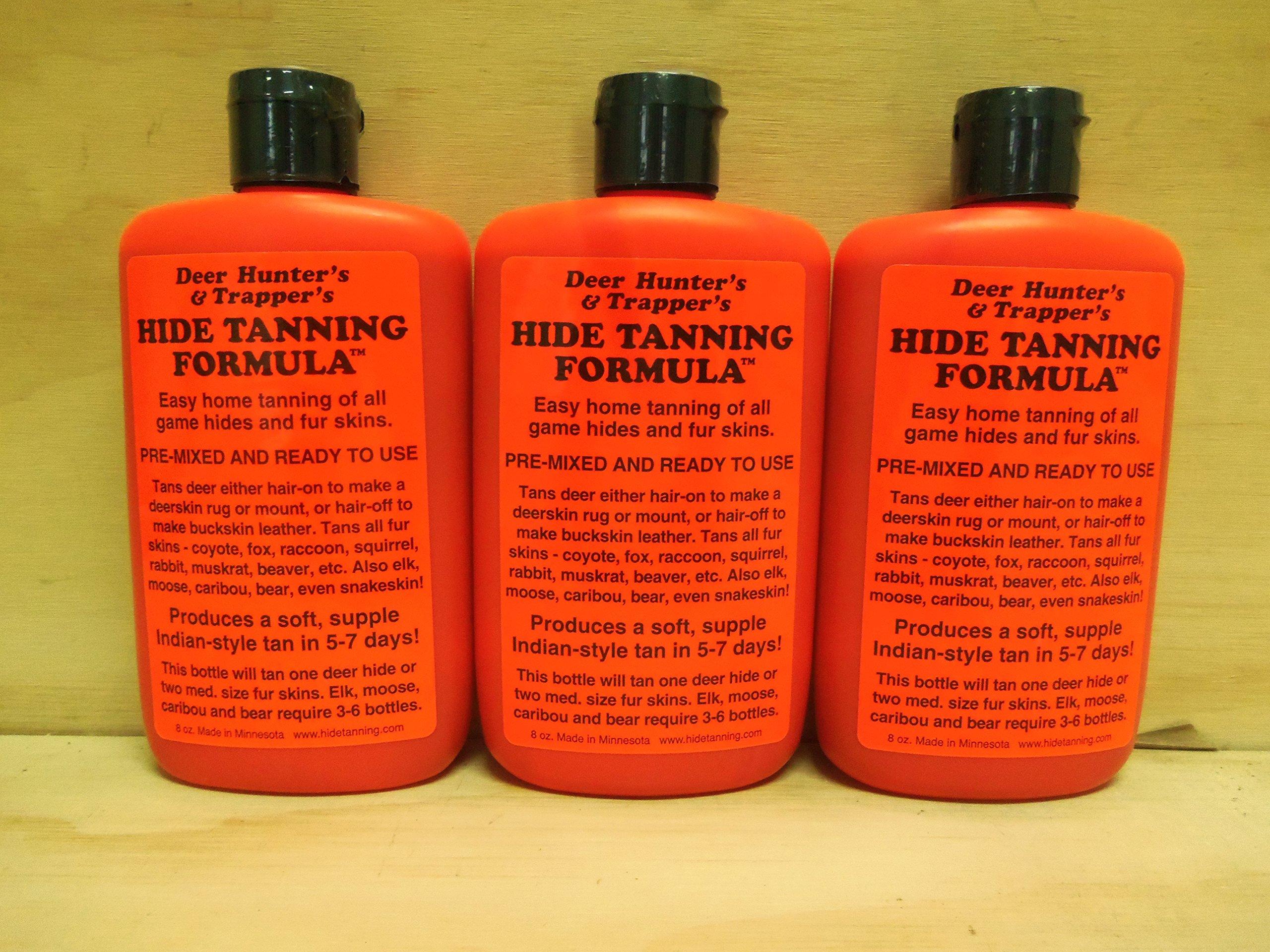 3 Pk Deer Hunter's & Trappers Hide Tanning Formula 8 Oz. by Cumberlands (Image #1)