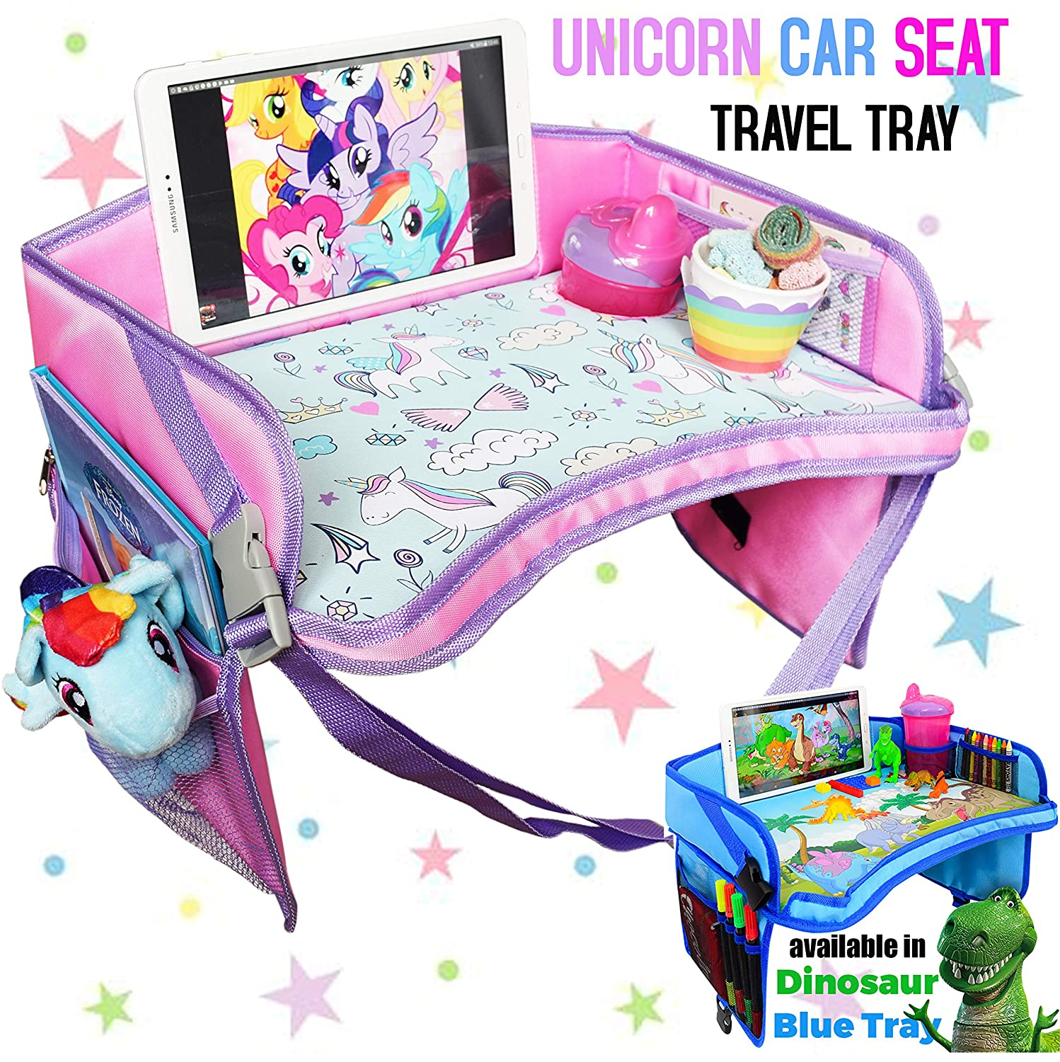 CarSeat Tray - Toddler Travel Tray Guaranteed to Keep Kids Occupied & Entertain for Hours
