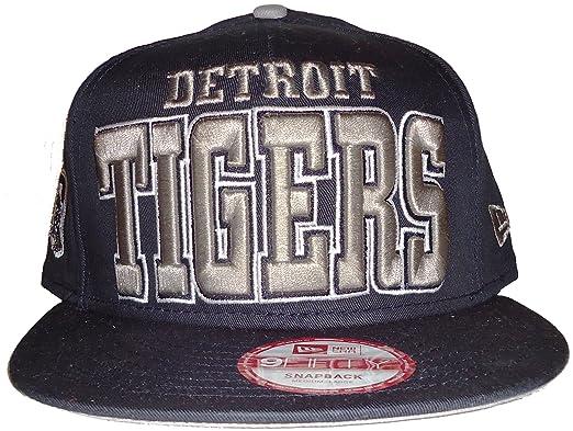 Amazon.com  New Era Detroit Tigers Solid MLB 9Fifty Snapback Cap Hat (Medium -Large 86fbc3c39518