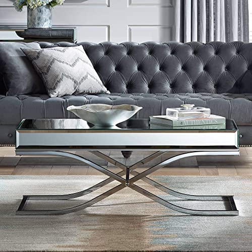 Furniture of America CM4230CRM-C Sundance Chrome Coffee Table