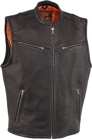 Men/'s Leather Zipper Front Vest w//Cool Tec Technology Stay 25/° Cooler than Standard Vests 3X - Big