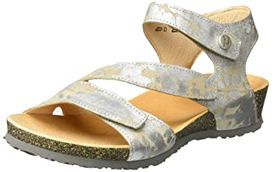 aa676f3c6a25af Think! Women s Dumia Open Toe Sandals Silver Size  10 UK  Amazon.co ...